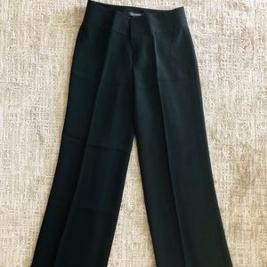 Black wide-leg dress pants